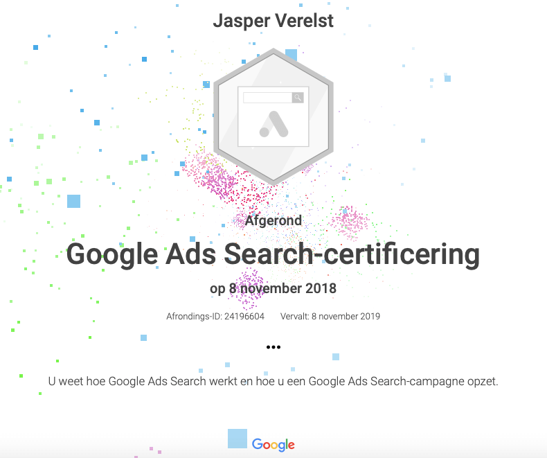 Google Ads Certificaat - SEA - AdWords