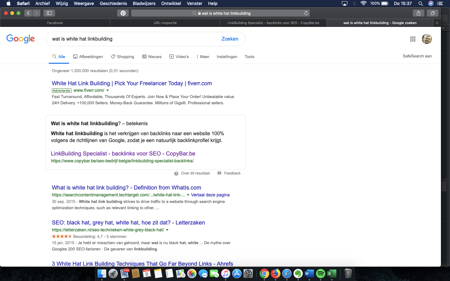 Google Answer Box wat is white hat linkbuilding