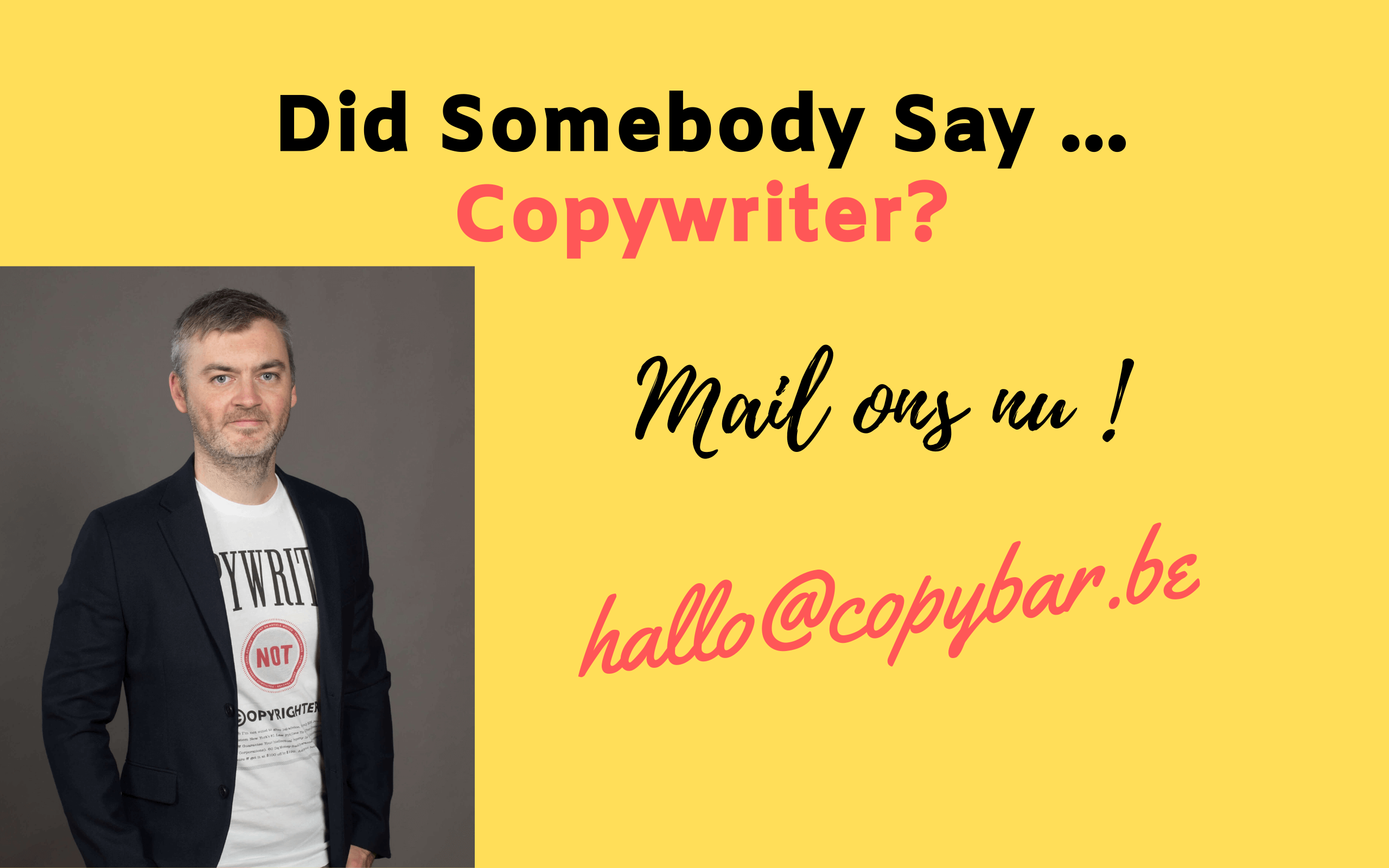 freelance copywriter jasper verelst - copybar.be
